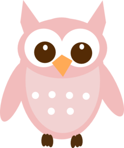 Light Pink Owl Clip Art at Clker.com.