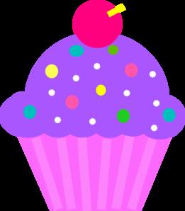 Light pink cupcake clipart.