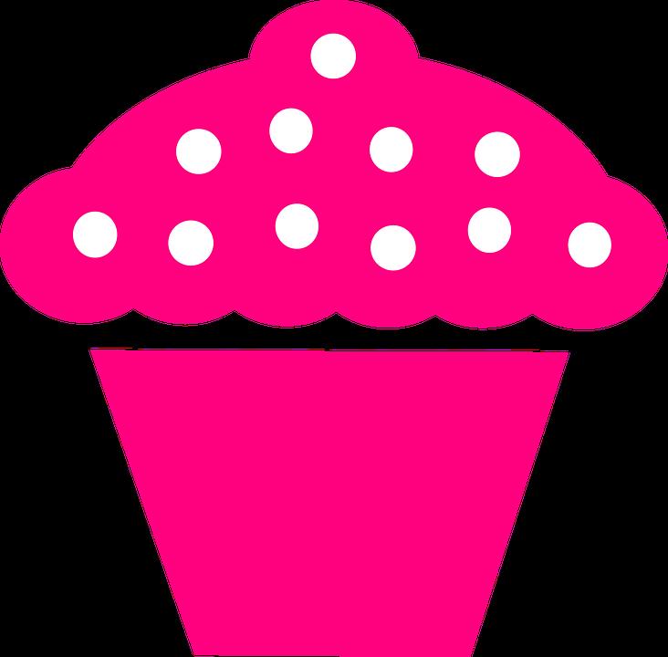 Free vector graphic: Cupcake, Pink, Berries, Logo.