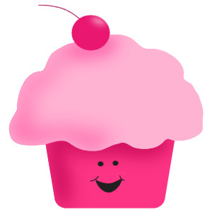 Pink Cupcake Clip Art, Images, Pictures.