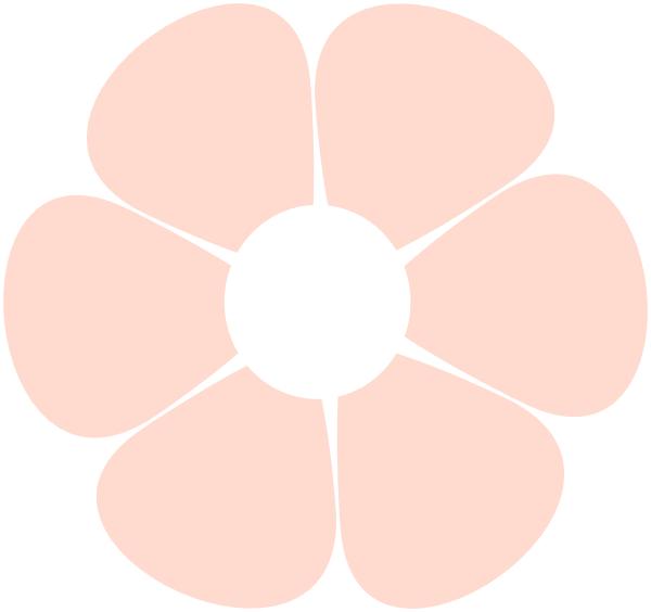 Light Pink Flower Clip Art at Clker.com.