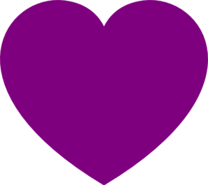 Light purple heart clipart.