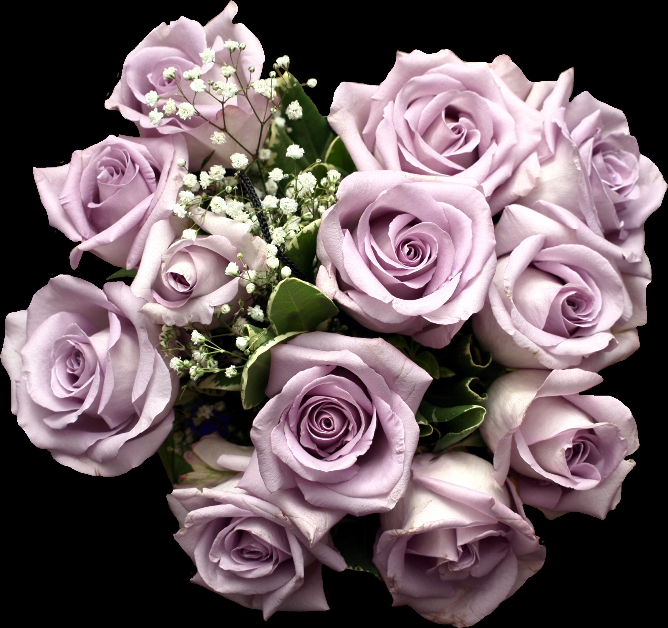 Light Purple Rose Bouquet Clipart.