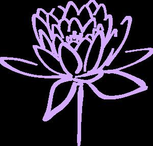 Free purple flower clipart.