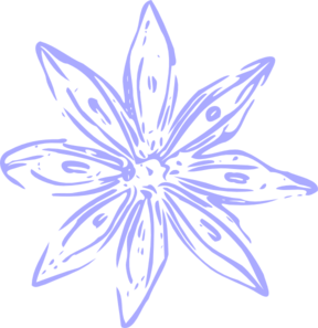 Light Purple Lily Outline Clip Art at Clker.com.