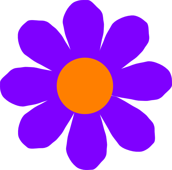 Purple And Pink Flowers Clipart.