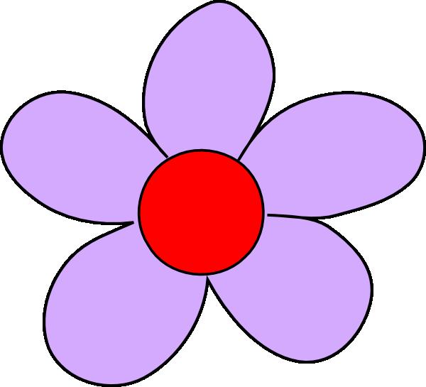 Light Purple Flower Clip Art at Clker.com.