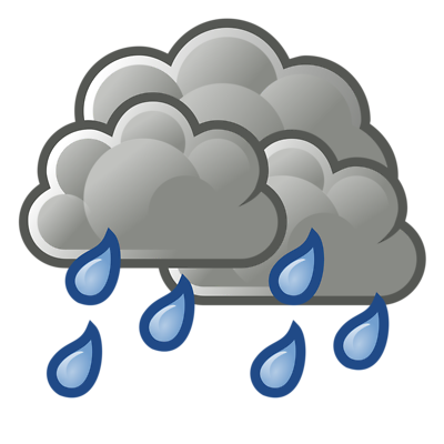 Light rain clipart.