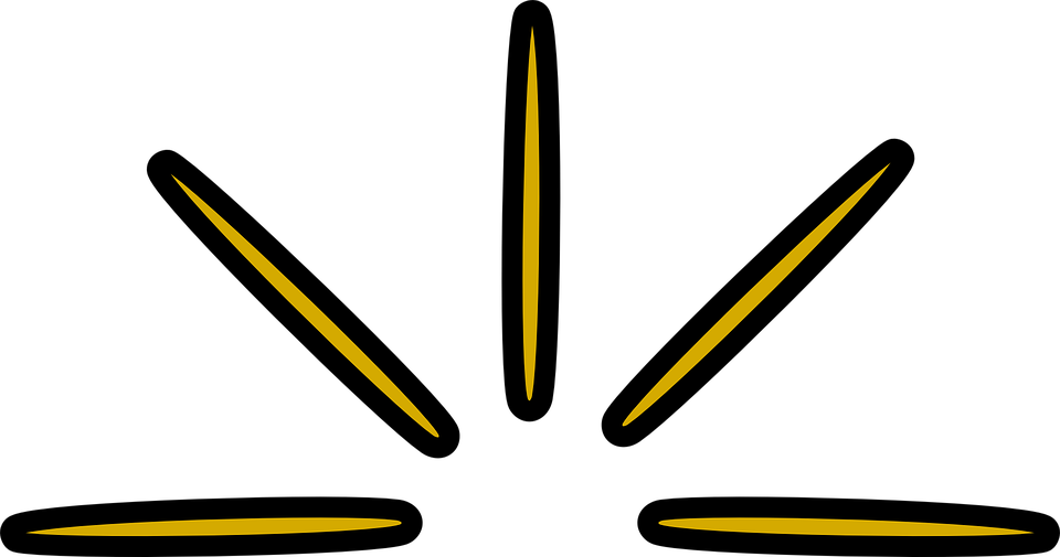 Free vector graphic: Rays, Beams, Light, Yellow, Golden.