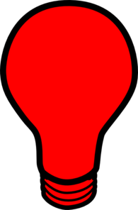 Red Light Bulb Clip Art at Clker.com.