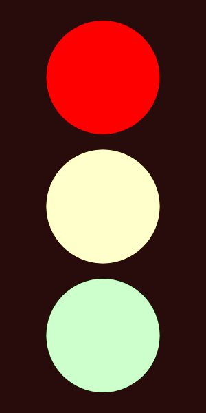 Clipart traffic light red.