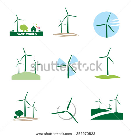 Wind Turbine Vector Stock Photos, Royalty.
