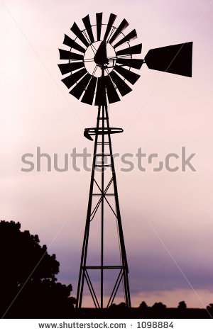 Old Windmill Stock Photos, Royalty.
