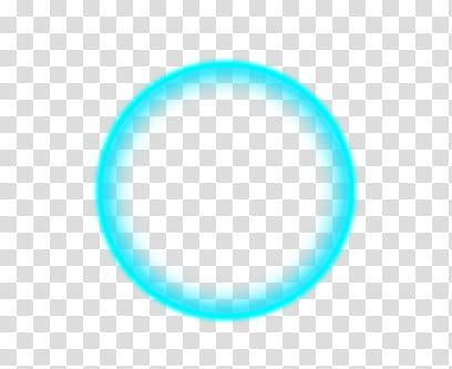 Circle, teal neon.