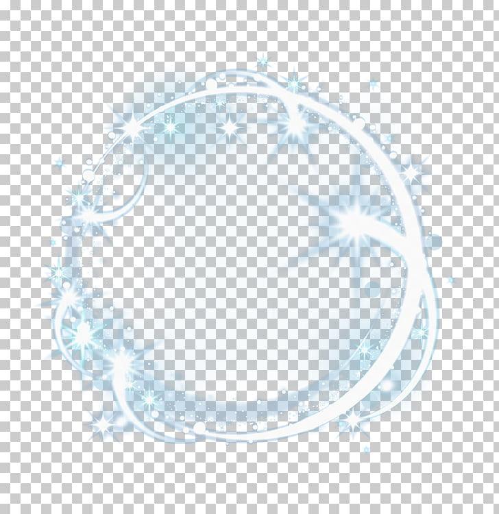 Circle Pattern, White light ring, white crystal ball art PNG.