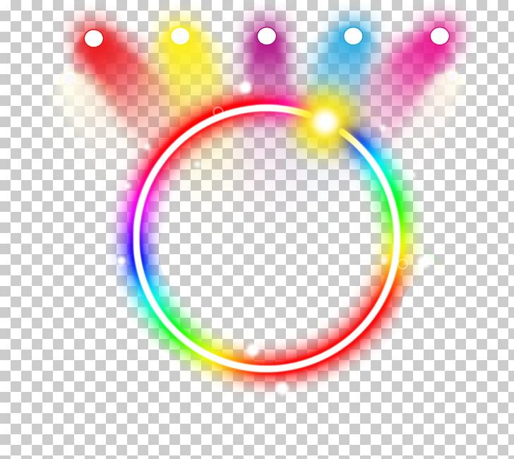 Neon lighting Neon lighting Color, Neon ring light effect.