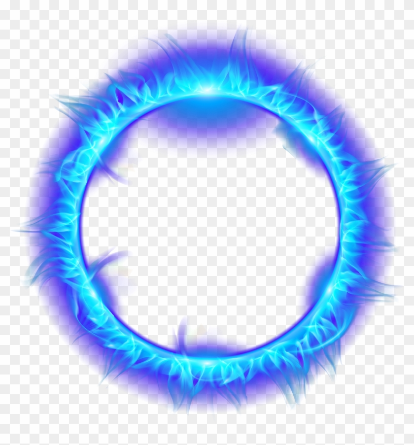 Blue Burning Fire Light Flame Of Ring Clipart.