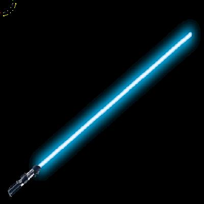 Blue Lightsaber PNG Background Image.