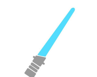 Floss and light saber clipart.