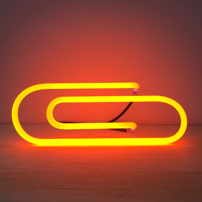 Neon light sculptures.