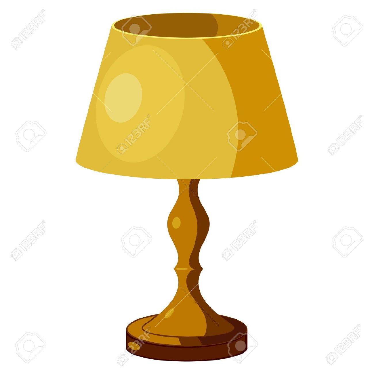 Yellow Lamp With Shade. Eps10 Royalty Free Cliparts, Vectors, And.