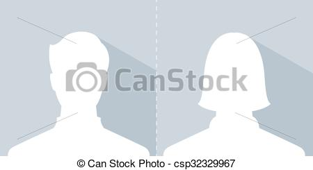 Clip Art Vector of male and female avatar profile picture.
