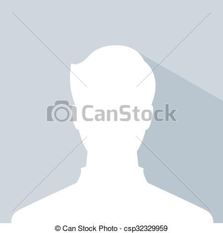 Clipart Vector of male avatar profile picture, silhouette light.