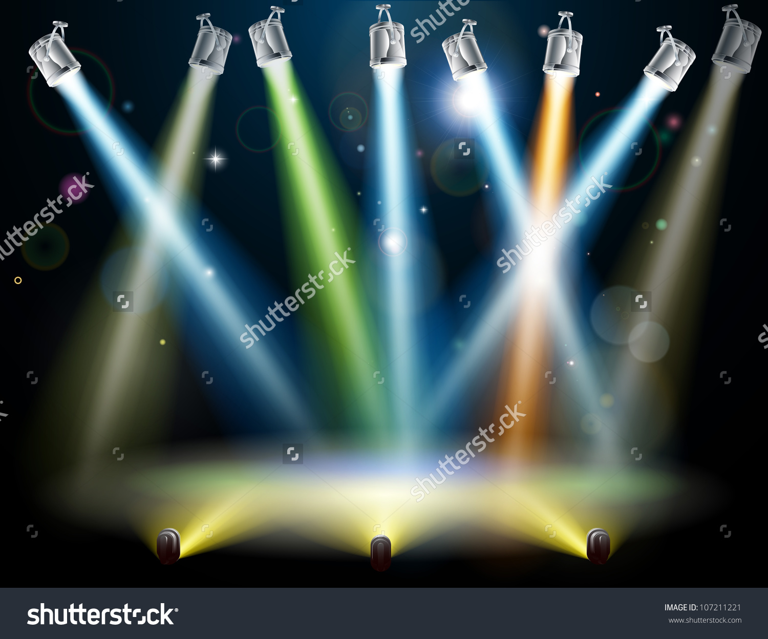 Dramatic Multicolored Lights Like Those On Stock Vector 107211221.