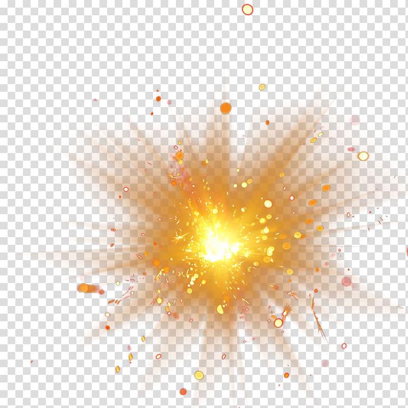 Light Adobe Fireworks, 2017 golden light, orange spark.