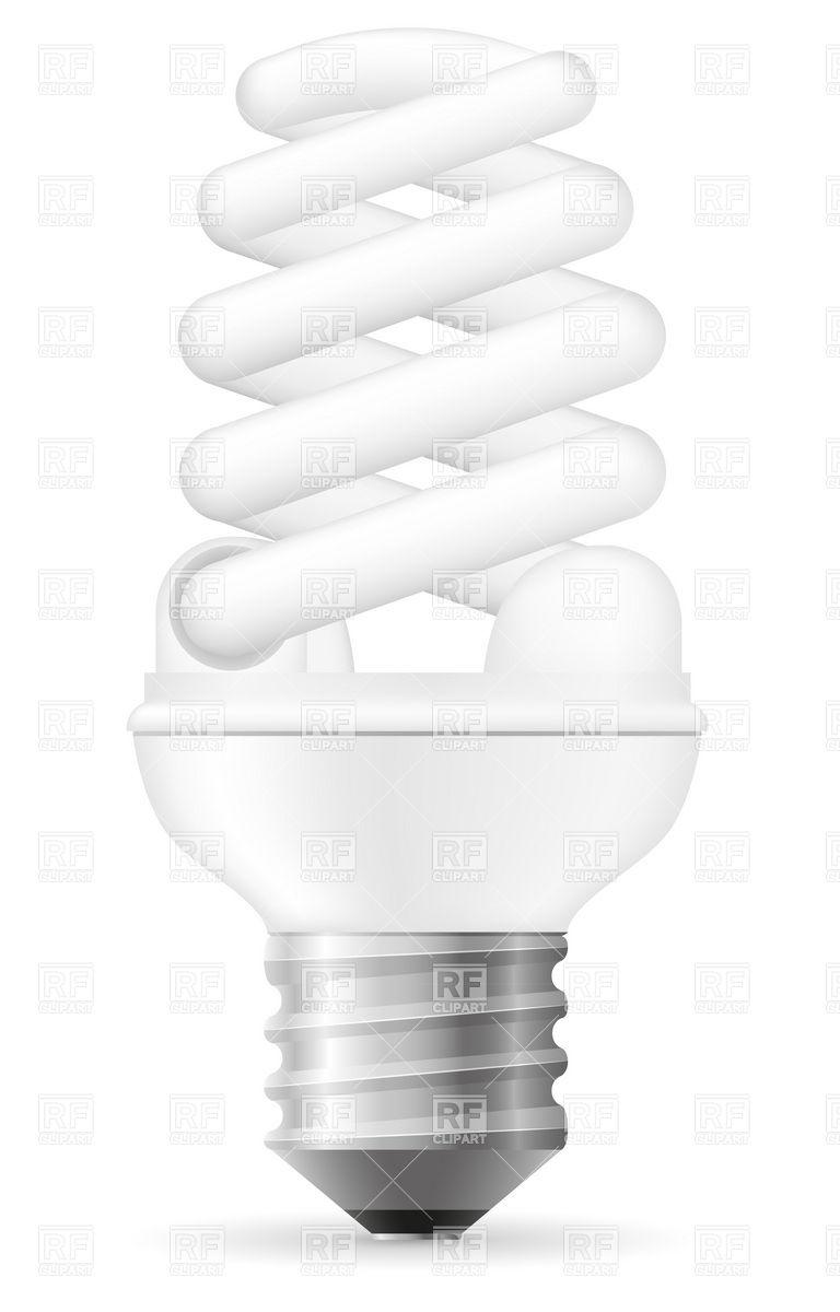 Energy saving spiral light bulb Vector Image #19537.