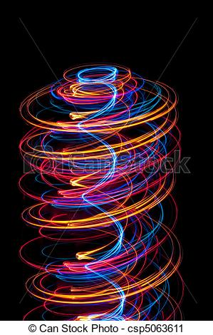 Stock Photography of light spiral.