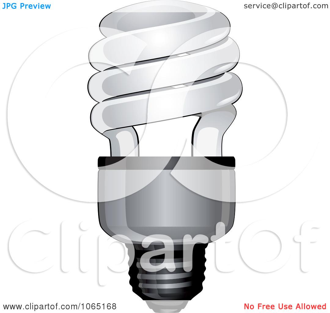 Clipart Spiral Light Bulb.