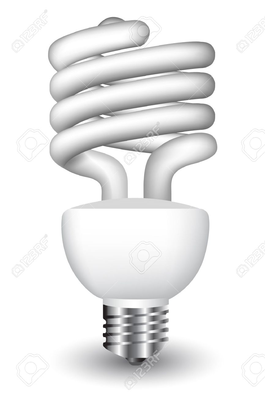 Energy Efficient Spiral Light Bulb Royalty Free Cliparts, Vectors.