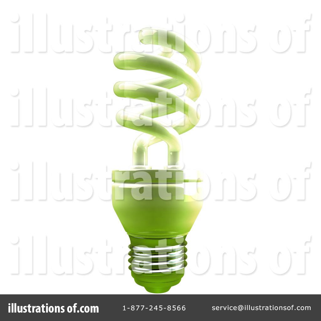 Spiral Light Bulb Clipart #55190.