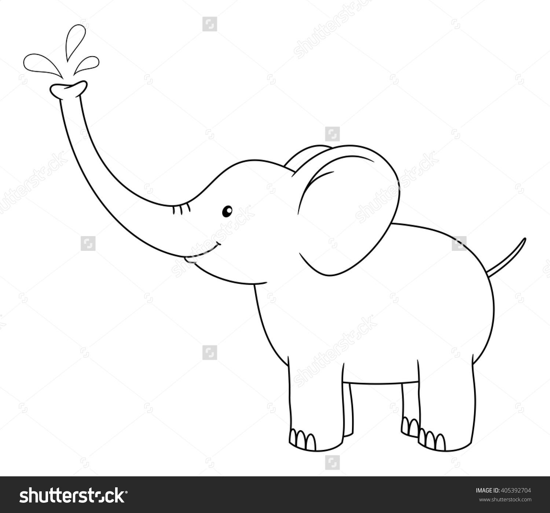 Elephant spray clipart.