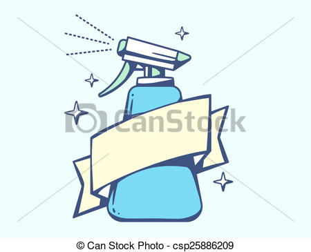 Stock Illustration of illustration of blue spray pistol with.