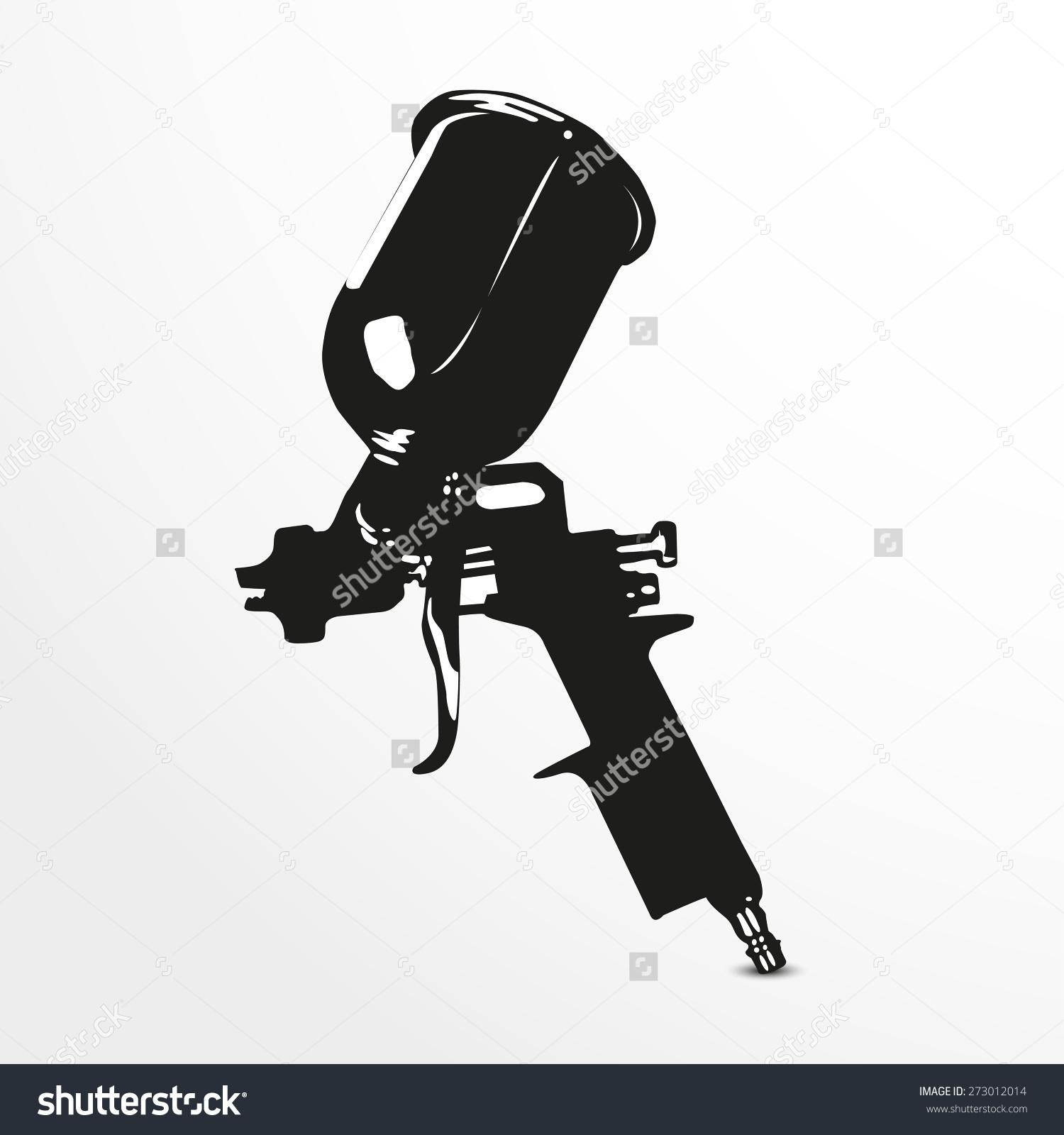 Spray gun clipart.