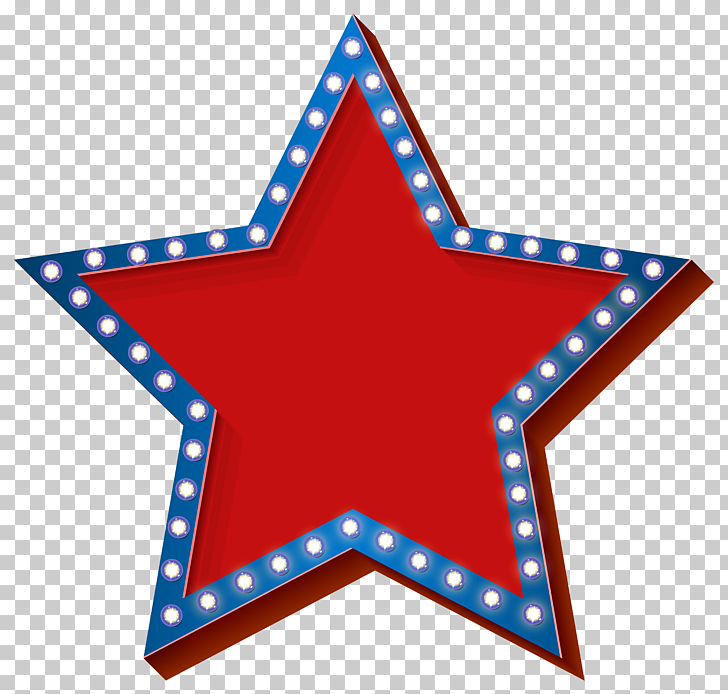 Light , Star with Lights Transparent , red and blue star PNG.