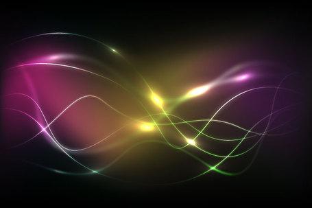 Abstract Wavy Light Streak Background (Free), Cliparts.
