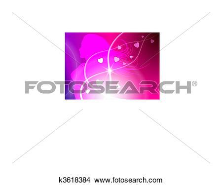 Clipart of Sexy Woman Celebration with Light Streak k3618384.