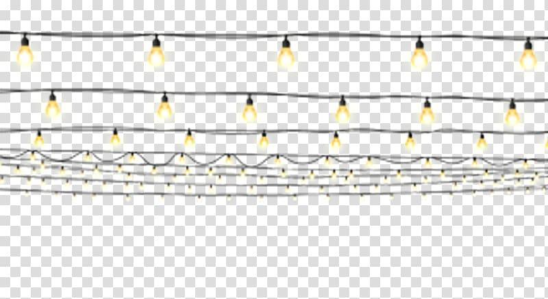 White light bulb string light lot, Light Cartoon.