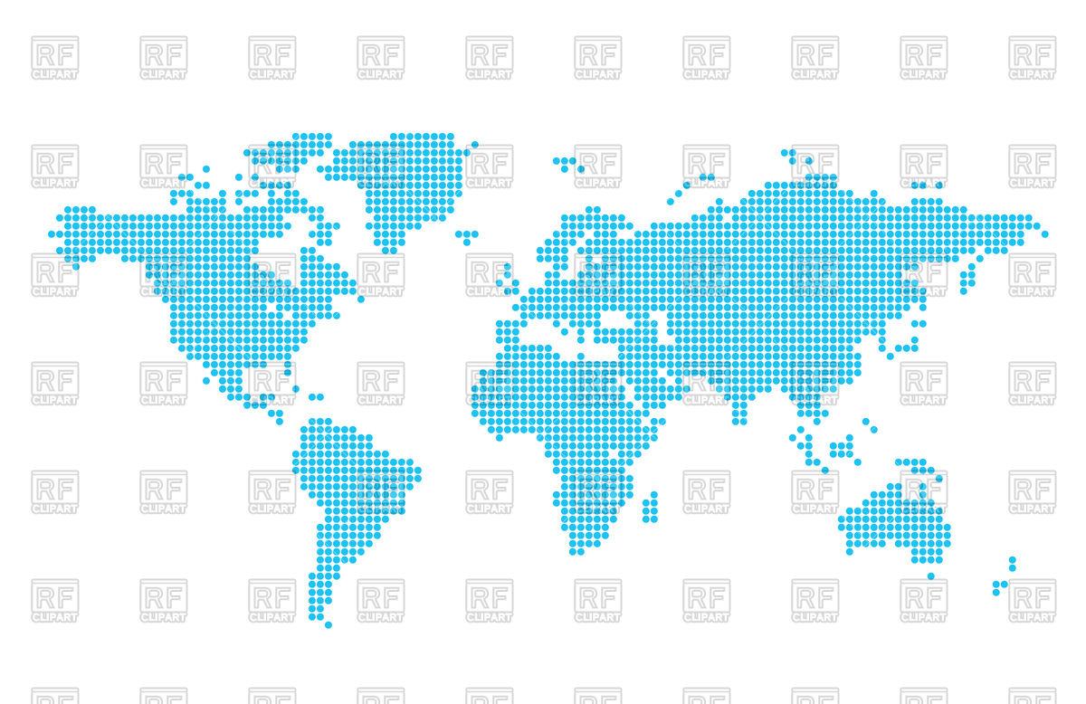Light blue world map made circles Vector Image #77175.