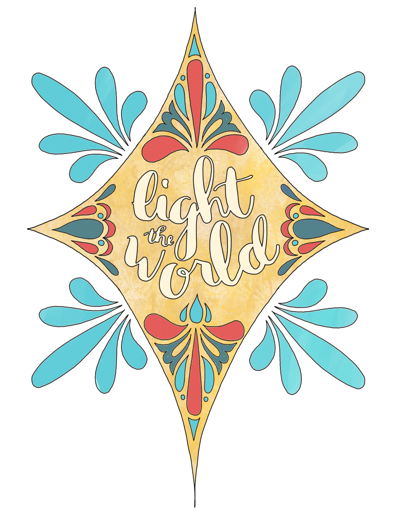 just what i {squeeze} in: Light The World!.