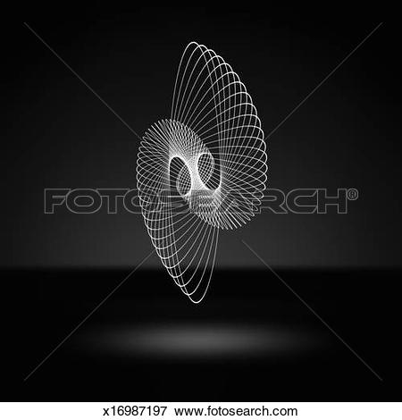 Picture of Light traces forming a geometric shape x16987197.