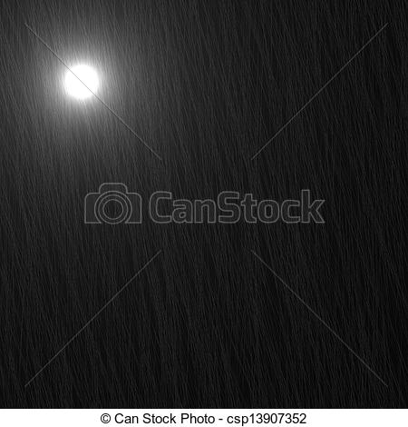 Stock Illustrations of Black square glass, moon and traces of rain.