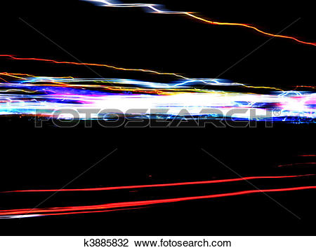 Clip Art of Funky Light Trails Layout k3885832.