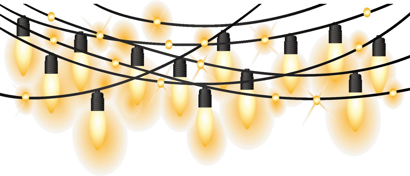 Clipart Lights Transparent Background Png Christmas String.