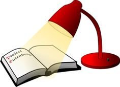 Books light up our world clipart.