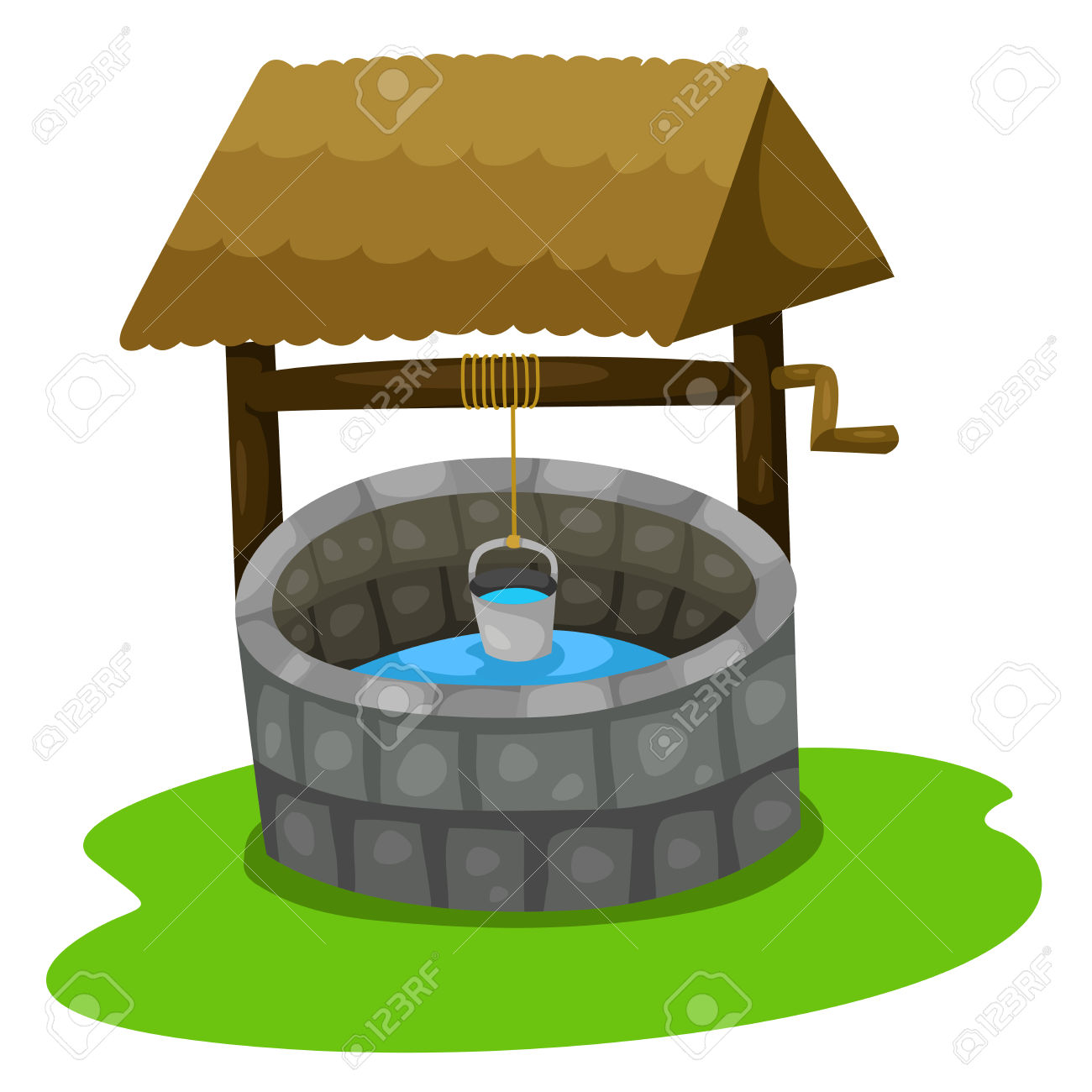 Clipart water well.