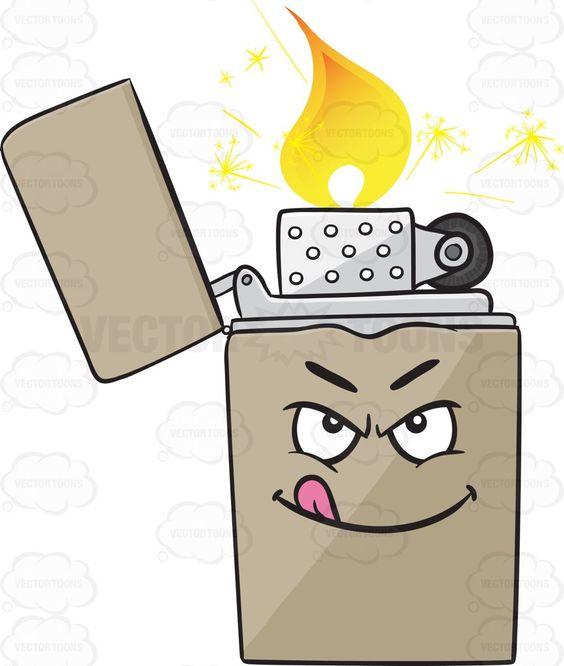 Naughty Look On Metal Lighter Emoji.